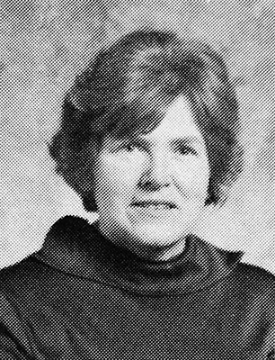 Black and white photograph of Jean Erickson from our 1977 to 1978 yearbook. It is a head-and-shoulders portrait.